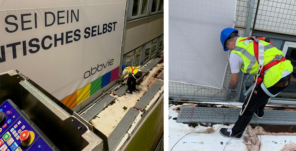 Abbvie Ludwigshafen Banner Montage